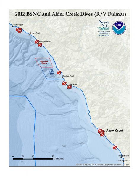 2012 Big Sur Nearshore Characterization and Alder Creek Dives