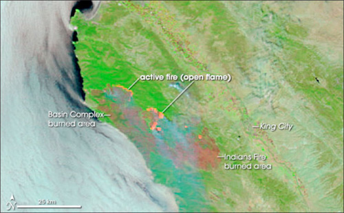 Record Fires Break Out in Big Sur (2008) - SIMoN on