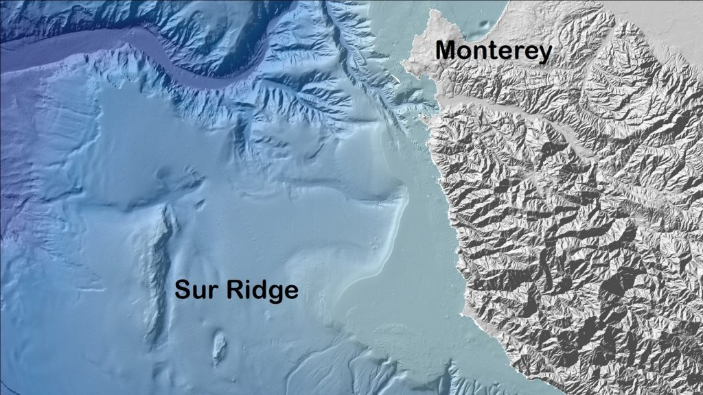 Sur Ridge is located about 35 miles due west of the California coastline, just south of Monterey.